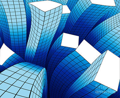 Growth Digital Art - Dancing Buildings by Atiketta Sangasaeng
