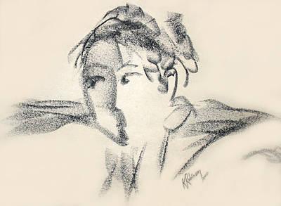 Dancing Face Art Print by Karen A Robinson