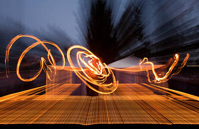 Photograph - Dancing Fire by Marie-Dominique Verdier