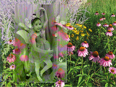 Digital Art - Dancing Girl In Flowers by Anita Burgermeister