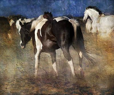 Digital Art - Dancing Horses by Judy Neill