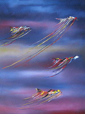 Painting - Dancing In Space by David Hatton