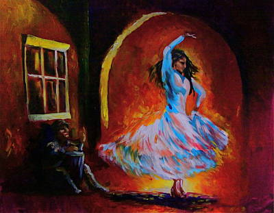 Painting - Dancing In The Square by Jerry Frech