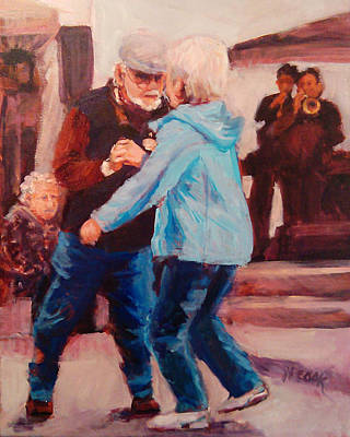 Painting - Dancing In The Square by Nanci Cook