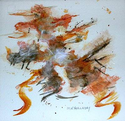Art Print featuring the mixed media Dancing by Mary Kay Holladay