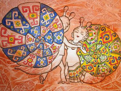 Dancing-master Art Print by Khromykh Natalia