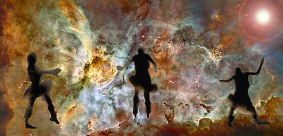 Dancing Nebula Art Print