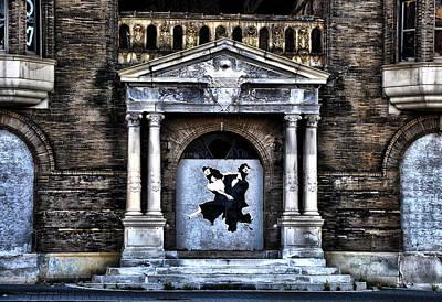 Ninja Digital Art - Dancing Ninjas In The Doorway by Bill Cannon