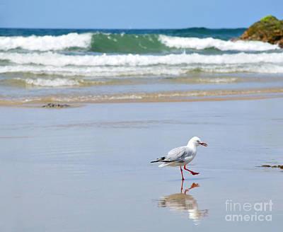 Dancing On The Beach Art Print by Kaye Menner