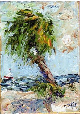 Art Print featuring the painting Dancing Palm by Doris Blessington