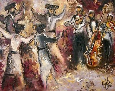 Painting - Dancing The Hora by Elizabeth Marks