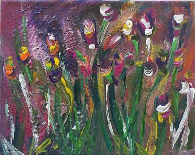Painting - Dancing Tulips by Kelly Turner