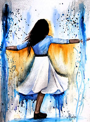 Dancing With My Soul Mate Art Print by Andrea Realpe