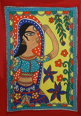 Dancing Woman Art Print by Shakhenabat Kasana