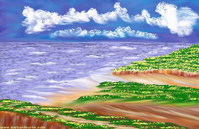 Digital Art - Dandelion Coast by Barbara Burns