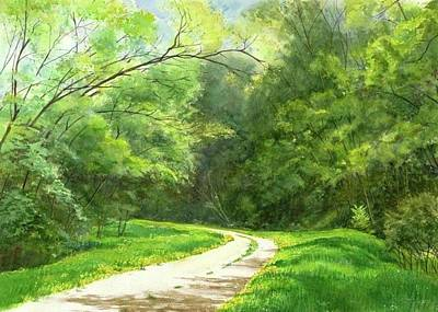 Painting - Dandelion Road by Phyllis Martino