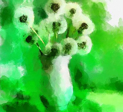 Dandelion Digital Art - Dandelions by Yury Malkov