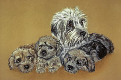 Dandie Dinmont Terriers Art Print by Patricia Ivy