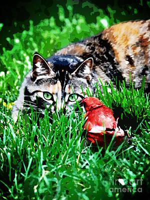 Pet Portraits Digital Art - Dangerous Friends by Laura Brightwood