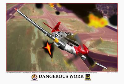Dangerous Work Art Print by Jerry Taliaferro