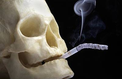 Dangers Of Smoking, Conceptual Image Print by Victor De Schwanberg