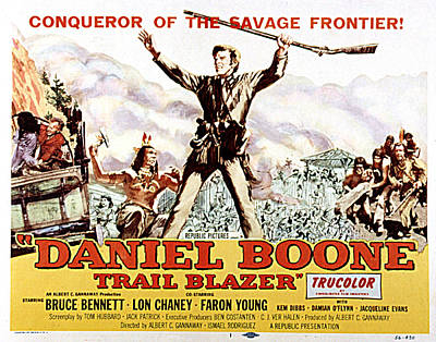 Daniel Boone, Trail Blazer, Bruce Art Print by Everett
