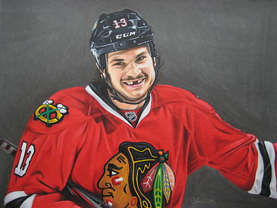 Flyers Hockey Drawing - Daniel Carbomb Carcillo by Brian Schuster