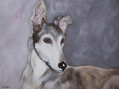 Rescued Greyhound Painting - Daniel by George Pedro