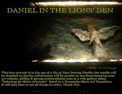 Painting - Daniel In The Lion's Den Info Photo No.1 by Phillip H George