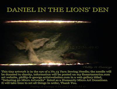 Painting - Daniel In The Loin's Den Info Photo No.2  by Phillip H George