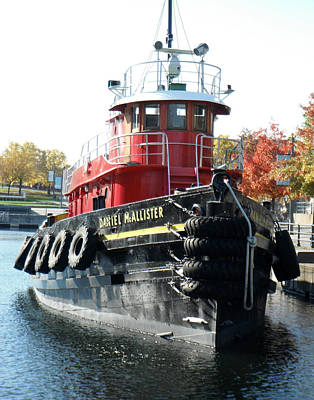 Daniel Mcallister Tug Boat Old Port Montreal Canada Art Print by Rosie Brown