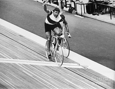 Velodrome Photograph - Daniel Morelon (1944- ) by Granger