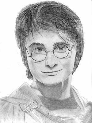 Drawing - Daniel Radcliffe - Harry Potter by Pat Moore
