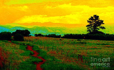 Photograph - Daniels Park IIi - A Colorado Landscape Paintograph by Christine S Zipps