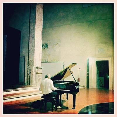 Piano Wall Art - Photograph - Danilo Rea A Narni Sotterranea by Aroti Meloni
