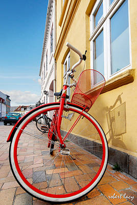 Danish Bike Art Print by Robert Lacy