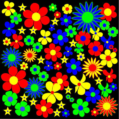 R20 Digital Art - Danish Flowers Flora Danica Square by Asbjorn Lonvig