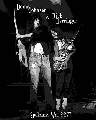 Photograph - D J And R D In Spokane 1977 by Ben Upham
