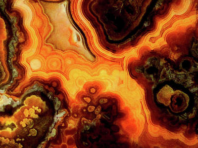 Mixed Media - Dantes Inferno - Lace Agate by Bruce Ritchie