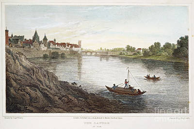 Ulm Photograph - Danube: Ulm, 1821 by Granger