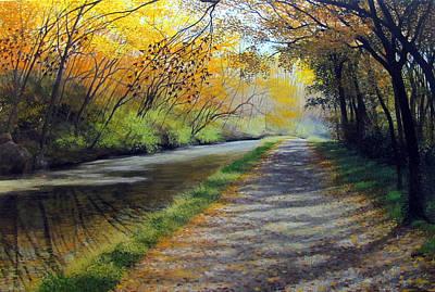 Dappled Autumn Light Art Print by David Bottini
