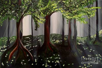 Painting - Dappled Forest 2 by Jayne Kerr