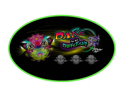Digital Art - Dare To Be Different by Atheena Romney