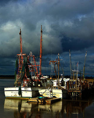 Photograph - Darien Shrimpboats by Ronald Broome