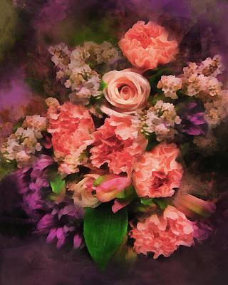 Digital Art - Dark Bouquet by Francesa Miller