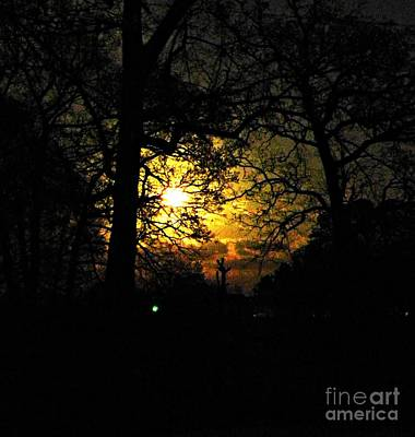 Found Round And About Photograph - Dark Heart Moon by Tisha  Clinkenbeard