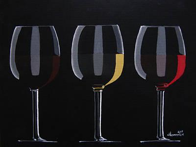 Wine Glasses Painting - Dark Light Medium by Kayleigh Semeniuk