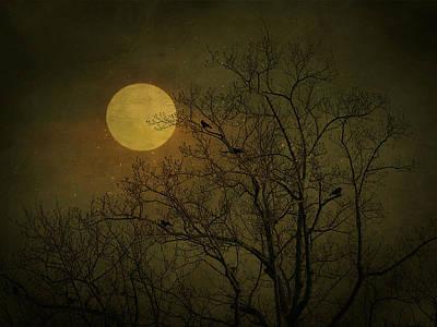 Art Print featuring the photograph Dark Moon by Robin Dickinson