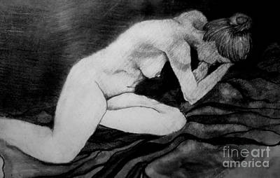 Crying Drawing - Dark Night Of The Soul by Rory Sagner