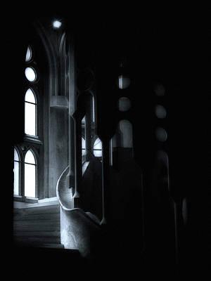 Barcelona Digital Art - Dark Passage II by Lynn Andrews